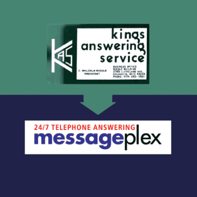 Kings Answering Service and Messageplex Logos