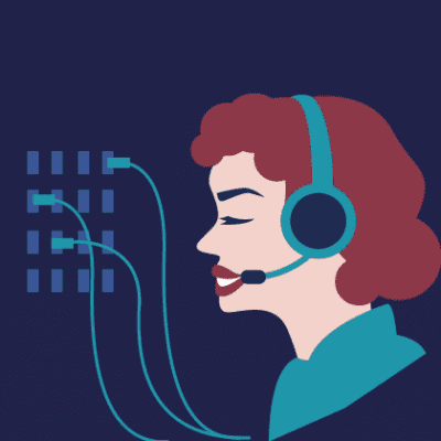 Call center operator illustration