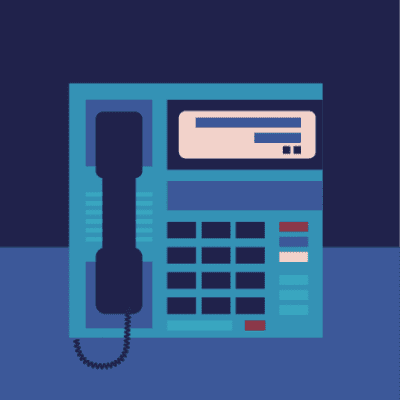 Digital telephone illustration
